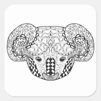 Inspired Koala Bear Square Sticker