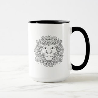 Inspired Lion Head 3 Mug