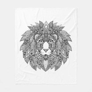 Inspired Lion Head 4 Fleece Blanket