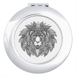Inspired Lion Head 4 Travel Mirrors