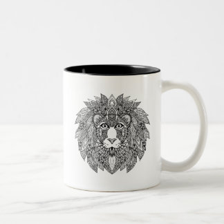 Inspired Lion Head 4 Two-Tone Coffee Mug