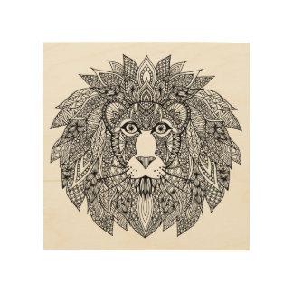 Inspired Lion Head 4 Wood Wall Art