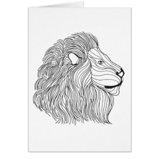Inspired Lion Head 5 Card