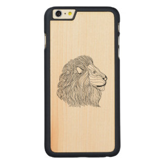 Inspired Lion Head 5 Carved® Maple iPhone 6 Plus Case