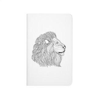 Inspired Lion Head 5 Journal
