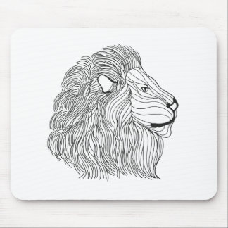 Inspired Lion Head 5 Mouse Mat