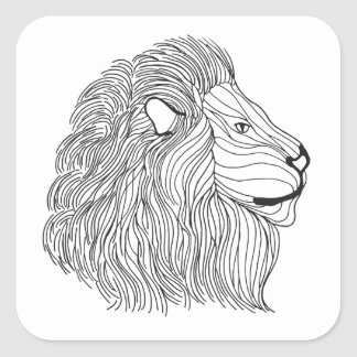 Inspired Lion Head 5 Square Sticker