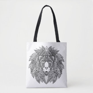 Inspired Lion Head 9 Tote Bag
