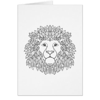 Inspired Lion Head Card