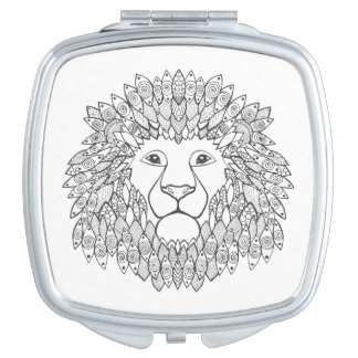 Inspired Lion Head Mirror For Makeup