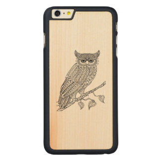 Inspired Magic Owl Sitting On Branch Carved® Maple iPhone 6 Plus Case