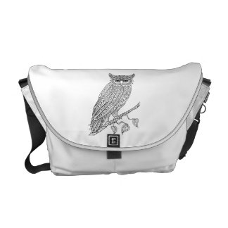 Inspired Magic Owl Sitting On Branch Commuter Bag