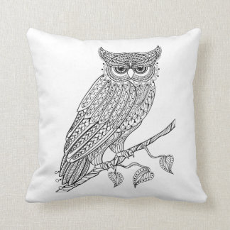 Inspired Magic Owl Sitting On Branch Cushion