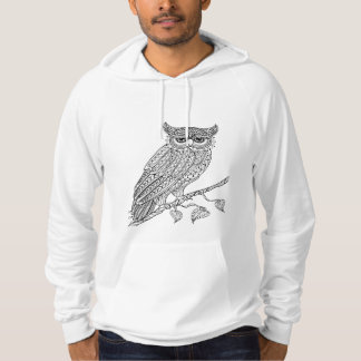 Inspired Magic Owl Sitting On Branch Hoodie