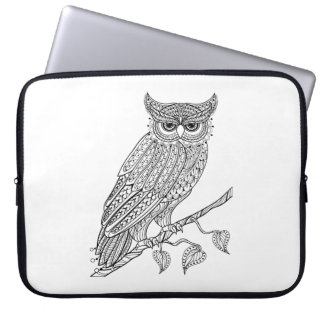 Inspired Magic Owl Sitting On Branch Laptop Sleeve