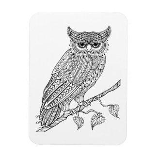 Inspired Magic Owl Sitting On Branch Magnet