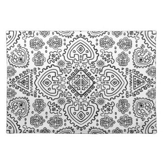 Inspired Mexican Tribal Pattern Placemat