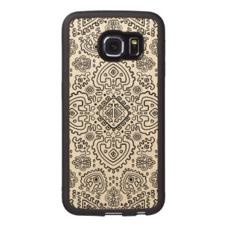 Inspired Mexican Tribal Pattern Wood Phone Case