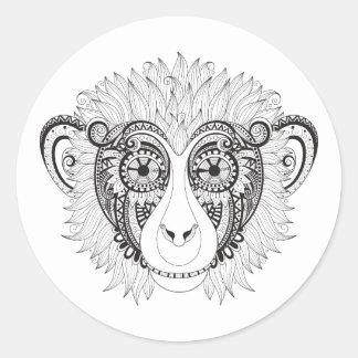 Inspired Monkey Classic Round Sticker