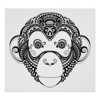 Inspired Monkey Design 2 Poster