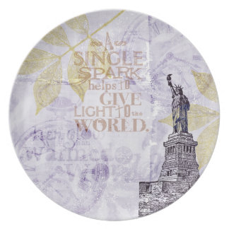 Inspired New York Liberty Party Plates