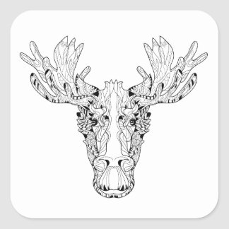 Inspired Of An Elk Square Sticker