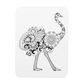 Inspired Ostrich Magnet