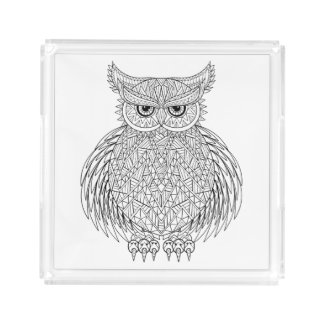 Inspired Owl Bird Totem Acrylic Tray