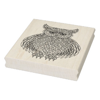 Inspired Owl Bird Totem Rubber Stamp