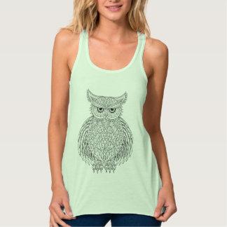 Inspired Owl Bird Totem Tank Top
