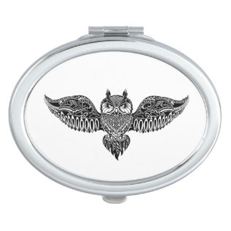 Inspired Owl Compact Mirrors