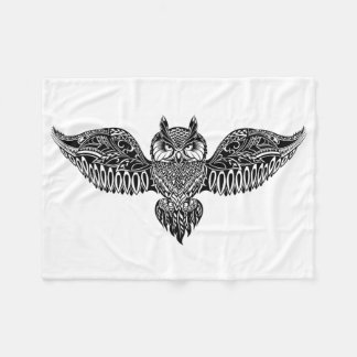 Inspired Owl Fleece Blanket