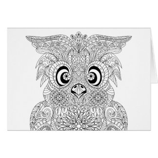 Inspired Owl Portrait Card