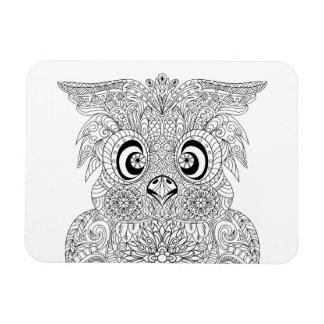 Inspired Owl Portrait Magnet