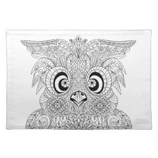 Inspired Owl Portrait Placemats