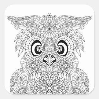 Inspired Owl Portrait Square Sticker