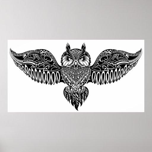 Inspired Owl Poster
