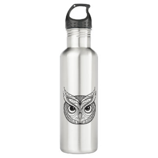 Inspired Owl With Tribal Ornaments 710 Ml Water Bottle