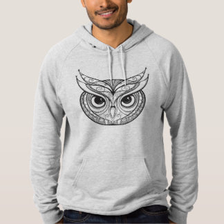 Inspired Owl With Tribal Ornaments Hoodie