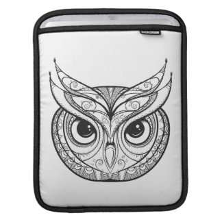 Inspired Owl With Tribal Ornaments iPad Sleeve