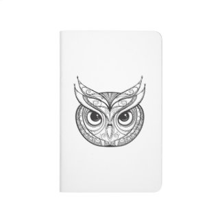 Inspired Owl With Tribal Ornaments Journal