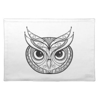Inspired Owl With Tribal Ornaments Placemat