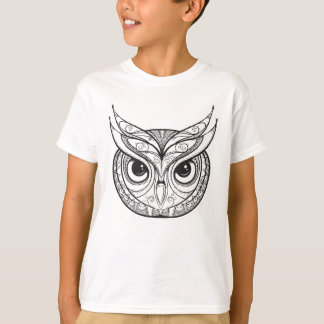 Inspired Owl With Tribal Ornaments T-Shirt