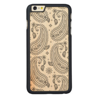 Inspired Paisley Design Carved® Maple iPhone 6 Plus Case