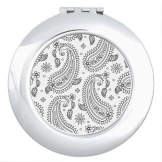Inspired Paisley Design Travel Mirror