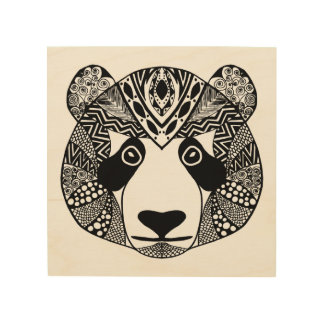 Inspired Panda 5 Wood Canvases