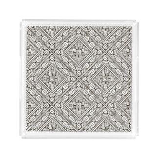 Inspired Pattern Acrylic Tray