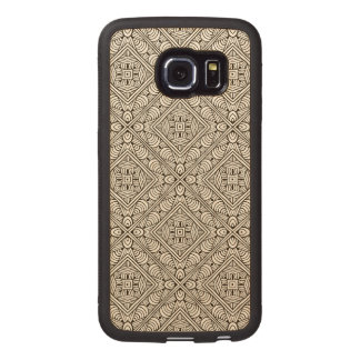 Inspired Pattern Wood Phone Case