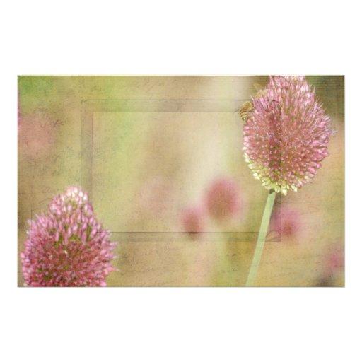 Inspired Pink Floral Stationery Design