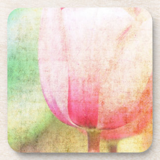 Inspired Pink Tulip Drink Coasters
